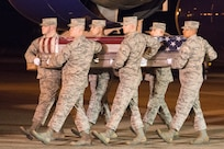 Dignified transfer for Air Force Staff Sgt. Albert J. Miller