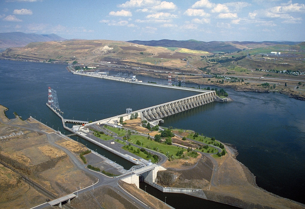 The Dalles Dam, Lake Celilo, and associated facilities are operated for Hydropower, Navigation, Fish & Wildlife, Recreation, Water Quality, and Irrigation. The Dalles Lock and Dam was authorized by Congress for power and navigation in the 1950 Flood Control Act. The project was constructed between 1952 and 1957 near the city of The Dalles, OR, 192 miles upstream of the Pacific Ocean. Lake Celilo extends upstream of the dam for 24 miles to John Day Dam.