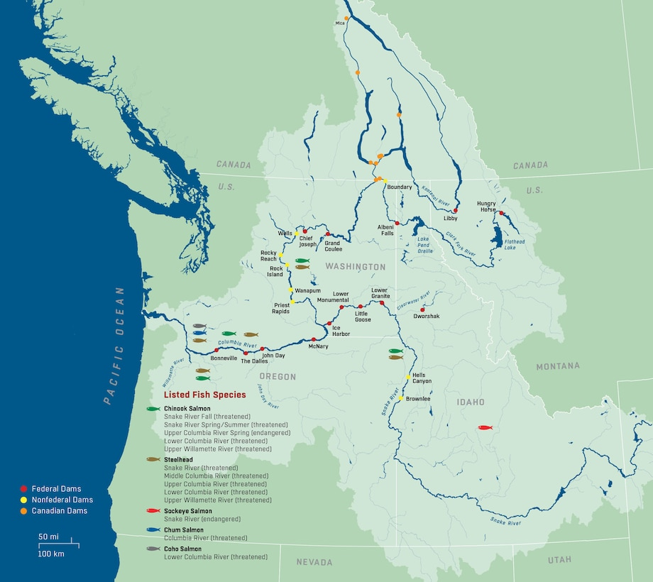 Map of Columbia System projects