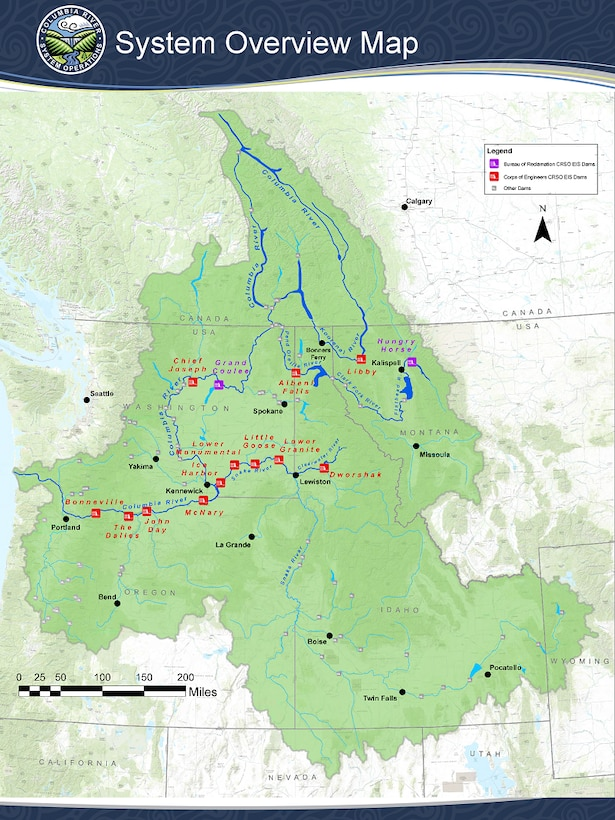 Columbia River System Operations System Overview Map