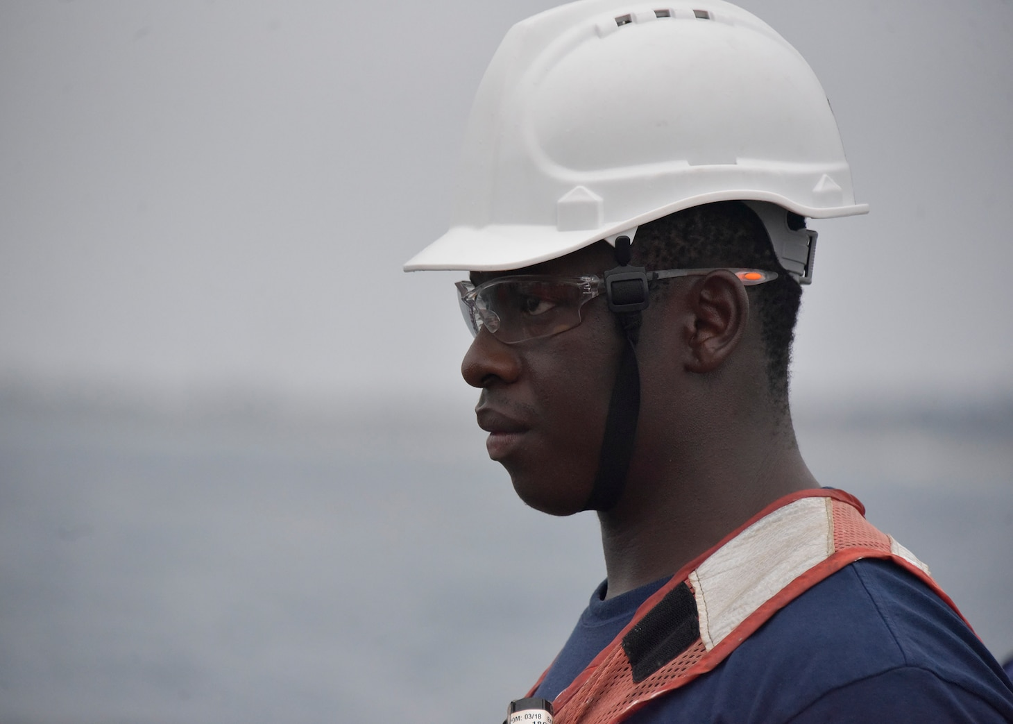 Ensign Panashe Mutumbo on the U.S. Coast Guard Cutter Thetis