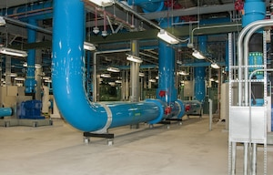 Chilled water pipes