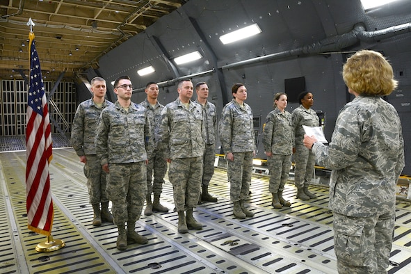 Westover holds Mass reenlistment on a C-5M