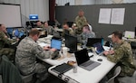 The Ohio National Guard Cyber Mission Assurance Team (CMAT) conducts network assessments during exercise week of Cyber Shield 19, at Camp Atterbury, Ind., April 16, 2019.
