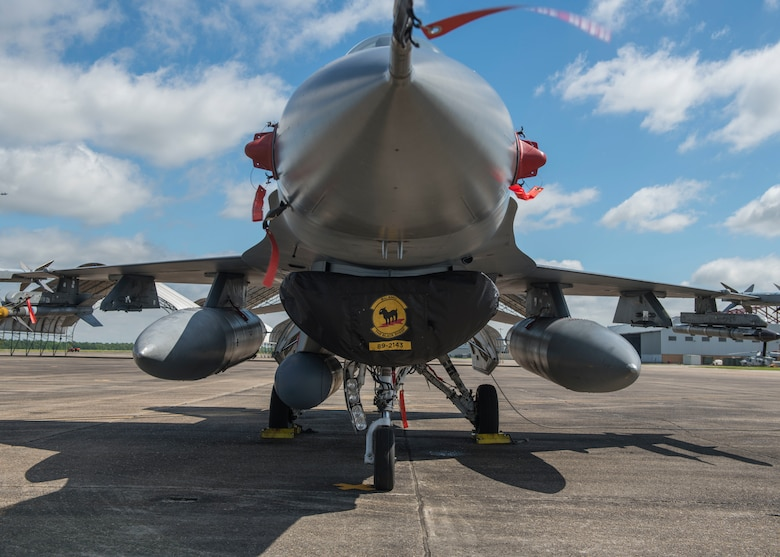 Holloman's 8th Fighter Squadron deployed on a temporary duty location to Naval Air Station Joint Reserve Base New Orleans, La., and participated in a training exercise, March 29 to April 12, 2019. The 8th FS brought all the elements for a fully functioning squadron of 158 personnel and 15 F-16 s on this TDY, including eight F-16 Basic-Course student pilots. (U.S. Air Force photo by Airman 1st Class Kindra Stewart)