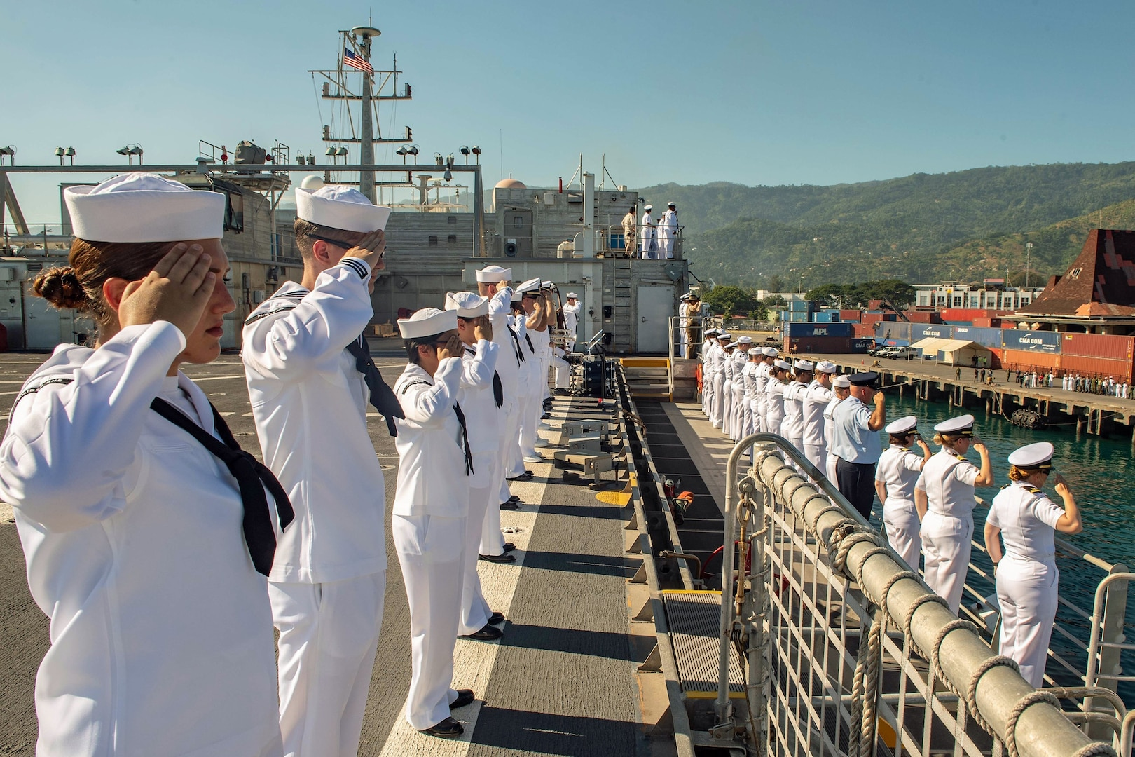 USNS Fall River Arrives in Dili for Pacific Partnership