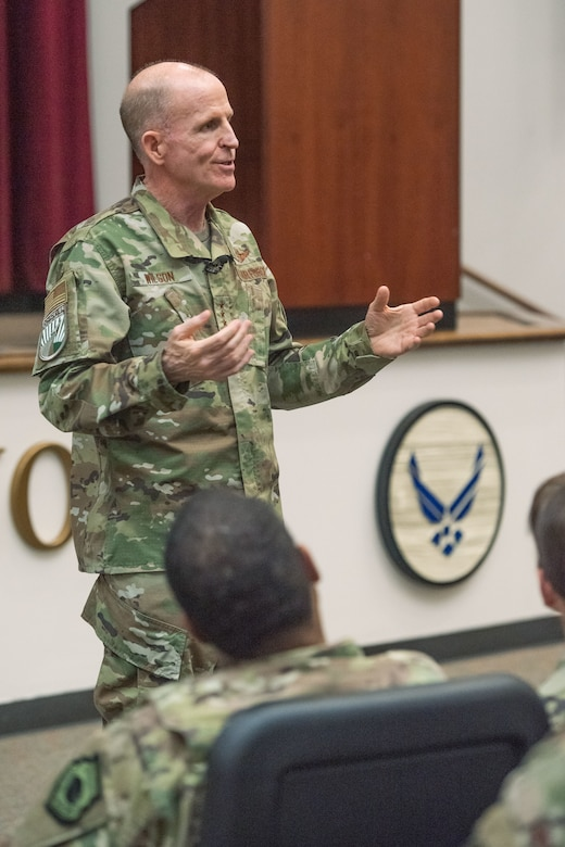 VCSAF speaks with OTS staff, instructors