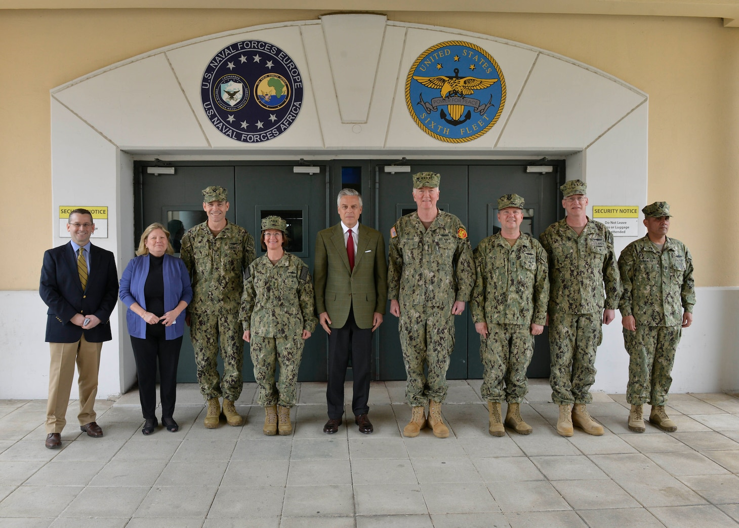 U.S. Ambassador to Russia, Jon M. Huntsman Jr., visits Naval Support Activity Naples, Italy, April 22, 2019.