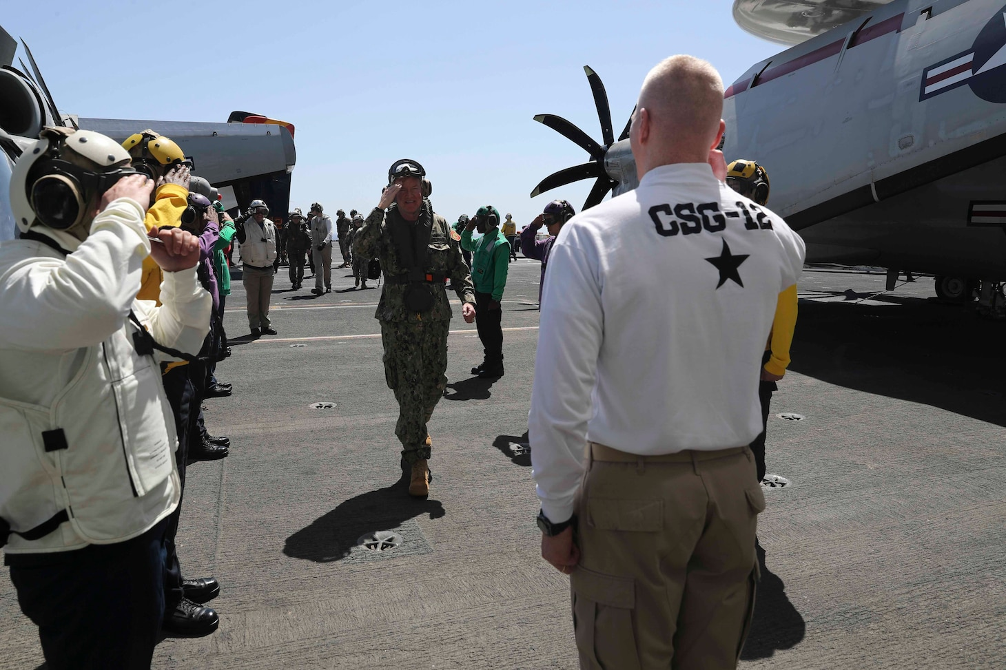 Adm. Foggo and U.S. Amb. to Russia Visit CSG