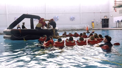 Recruit in the pool learning rescue missions
