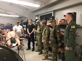 U.S. and Uzbekistan service members attend a Military Medical Logistics Subject Matter Expert Exchange at Joint Base San Antonio, Texas, April 8-12, 2019.