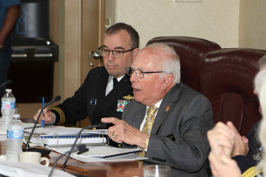 The Hon. Sam Angel speaks during the Mississippi River Commissions public hearing in Hickman, Ky., April 8, 2019.