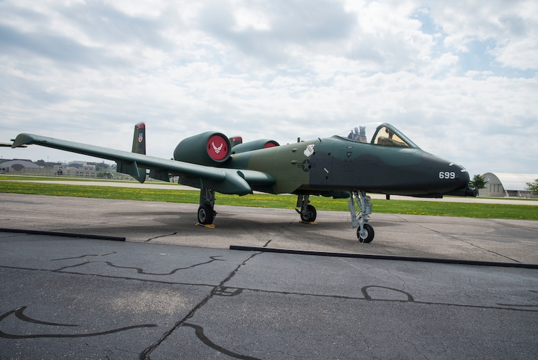 DAYTON, Ohio -- Fairchild Republic A-10A Thunderbolt II on display in the Air Park at the National Museum of the United States Air Force. (U.S. Air Force photo by Ken LaRock)