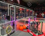 robot in an arena environment.