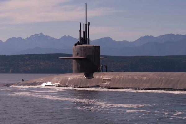 Submarine at sea