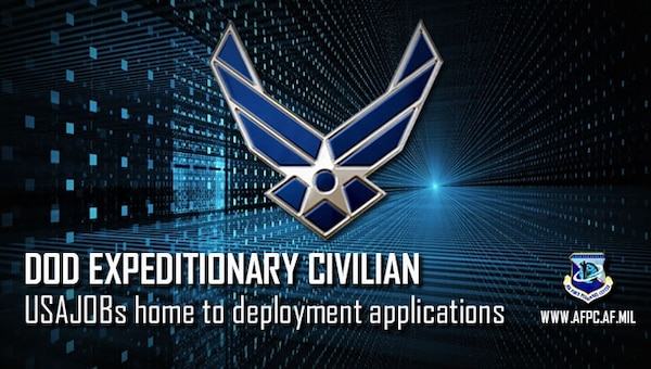 Civilian Airmen who wish to volunteer for a deployment now have the benefit of using USAJOBs to submit their applications, which enhances their ability to pursue expeditionary civilian opportunities.
