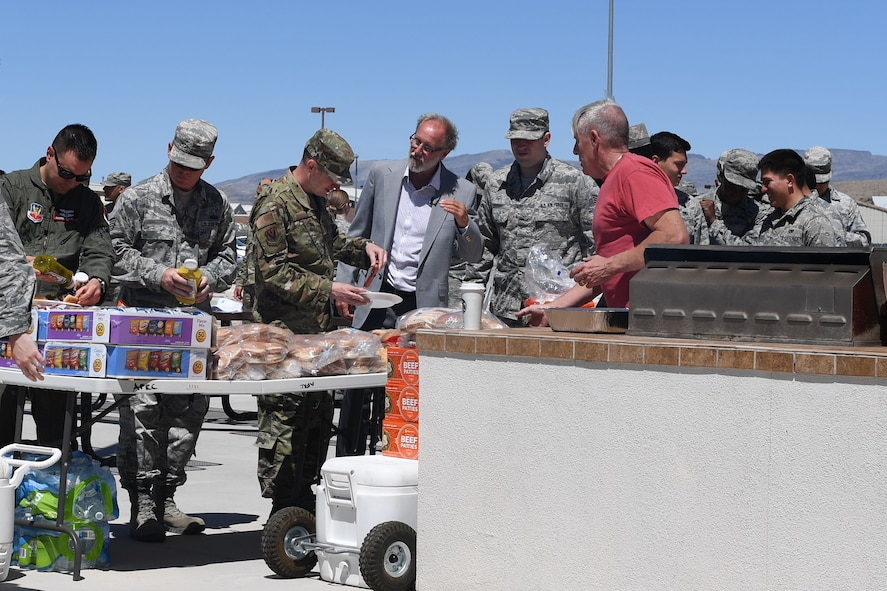 Helping Agencies from Creech Air Force Base and Nellis AFB, to include Violence Prevention, Sexual Assualt Prevention and Response and Mental Health, hosted a barbecue to raise awareness of child abuse and sexual assault and support victims, at Creech AFB, Nevada, April 23, 2019. (U.S. Air Force photo by Master Sgt. Dillon White)