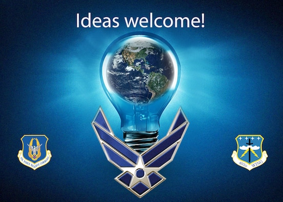 Idea graphic for squadron innovation funds (U.S. Air Force graphic by Jessica L. Kendziorek)