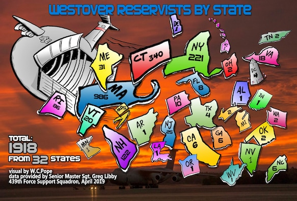 Westover Reservists come from 32 states