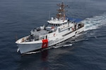 The Coast Guard Cutter Forrest Rednour arrives in San Pedro, California, Aug. 11, 2018. The Forrest Rednour is slated to be the first of four Fast-Response Cutters to be home-ported at Base Los Angeles-Long Beach and is scheduled to be officially commissioned in the fall.
