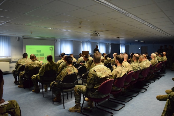 The 457th Civil Affairs Battalion hosted soldiers from Bulgaria, Hungary, Romania, Slovenia and the Republic of North Macedonia at a cultural awareness seminar and Multinational Civil-Military Co-operation Center planning conference April 27-28 at Camp Normandy, Grafenwoehr, Germany. The events were designed to prepare participants for the U.S. Army Europe summer exercises.