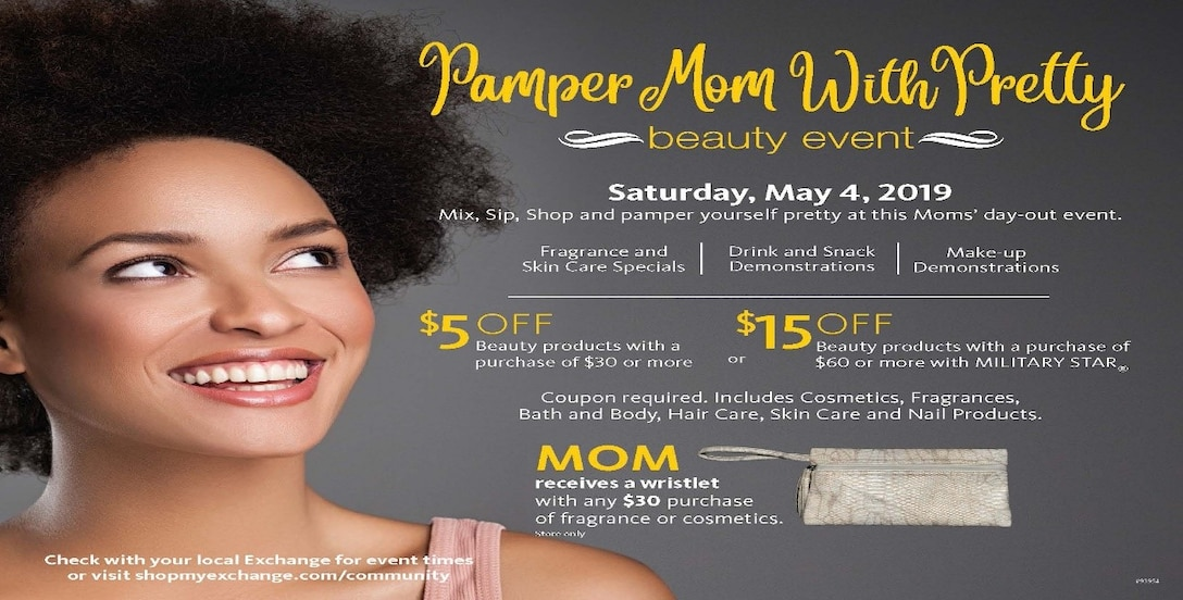Pamper Mom With Pretty Event info graphic