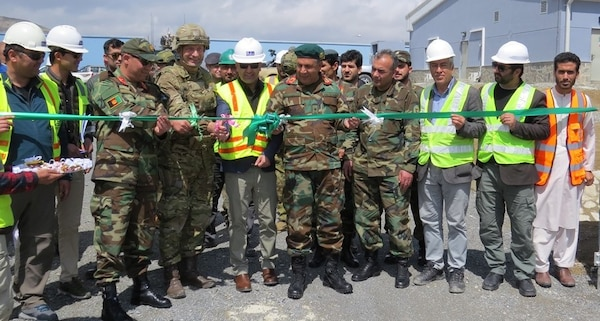 The official Ribbon Cutting Ceremony celebrates the turnover of the Women's Participation Program facilities at the Marshal Fahim National Defense University.