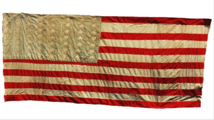 The 56 Stars Flag – surviving prisoners liberated from Mauthausen concentration camp in Austria, used sheets and jackets to make a United States flag as a gift to the American Soldiers responsible for their freedom. The prisoners could not remember how many stars the United States flag had so they made their flag with 56 stars. The flag is displayed today at the Museum of Tolerance, a Simon Wiesenthal Center and global human rights organization, headquartered in Los Angeles, California.