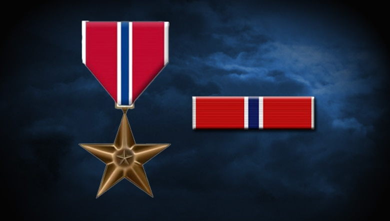U.S. Air Force graphic of Bronze Star decoration and ribbon by Staff Sgt. Alexx Pons.