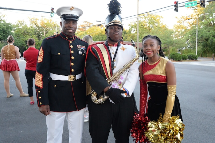 For the first time in its 71-year history, the Thomasville Rose Parade, part of the 98th annual Rose Show and Festival in Thomasville, Ga., hosted Marines from Marine Corps Logistics Base Albany, April 26.