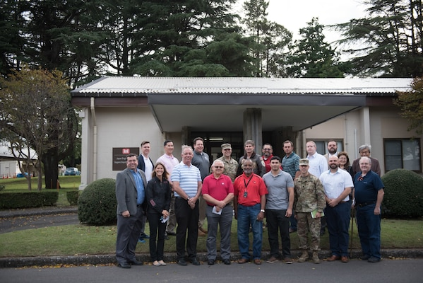 Japan Engineer District Commander Thomas J. Verell, Jr. received keys to the new Japan District facility