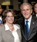 Dunshee with president Bush