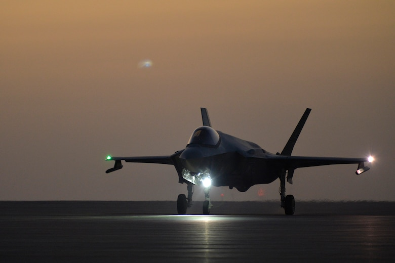 A photo of an F-35A Lightning II.