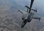 A photo of an F-35A Lightning II refueling.