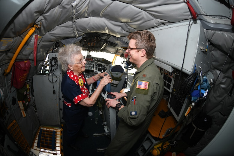 Rosie the Riveter visits the 459th