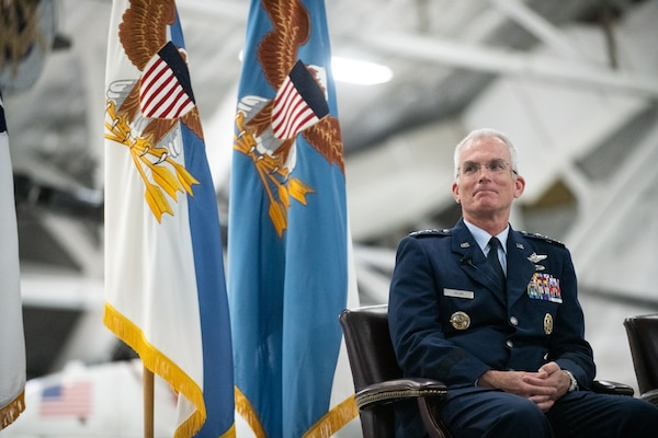 Air Force Gen. Paul J. Selva, vice chairman of the Joint Chiefs of Staff, retires in a ceremony hosted by Marine Corps Gen. Joe Dunford, chairman of the Joint Chiefs of Staff, at Hanger 3, Joint Base Andrews, Md., July 31, 2019. Gen. Selva retires after over 39 years of service.