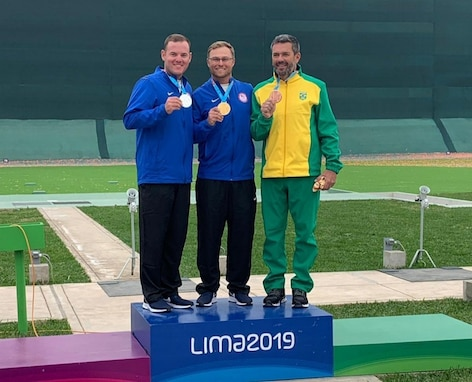Brian Burrows and U.S. Army Staff Sgt. Derek Haldeman represented Team USA in Men's Trap at the 2019 Pan American Games in Lima, Peru. Not only did these two athletes claim the Gold and Silver Medals, they claimed the last two possible Olympic quotas in Men's Trap for Team USA, something that has not happened since 2008! Haldeman is a Sunbury, Ohio native who is a competitive marksman/instructor with the U.S. Army Marksmanship Unit at Fort Benning, Georgia. (Courtesy photo)