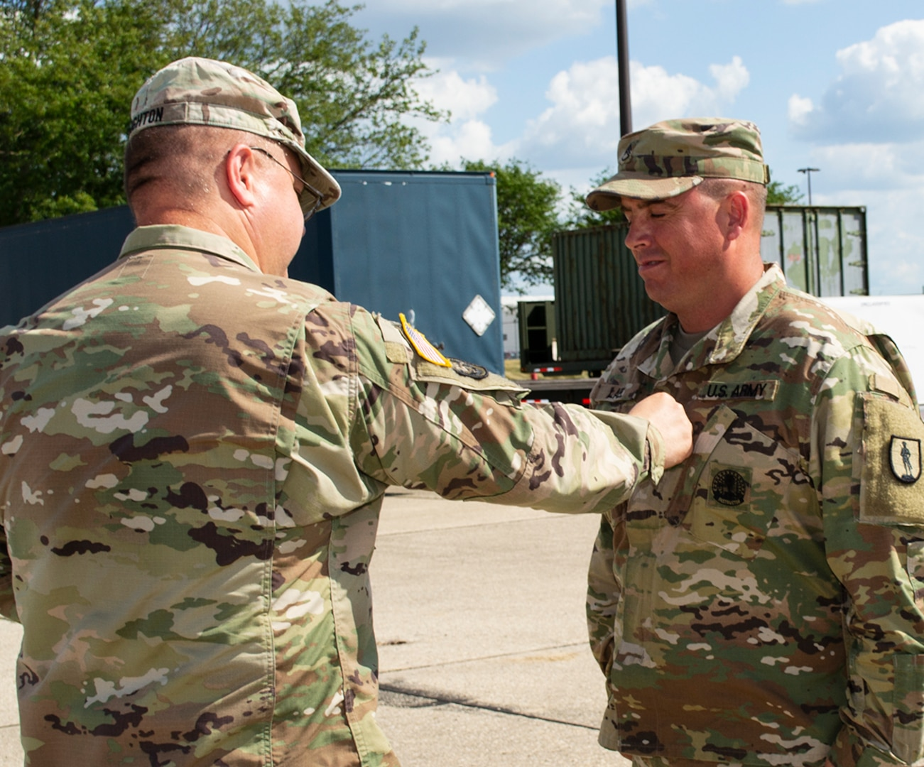 That Lael was promoted to Sgt. 1st Class in a July 30 ceremony.