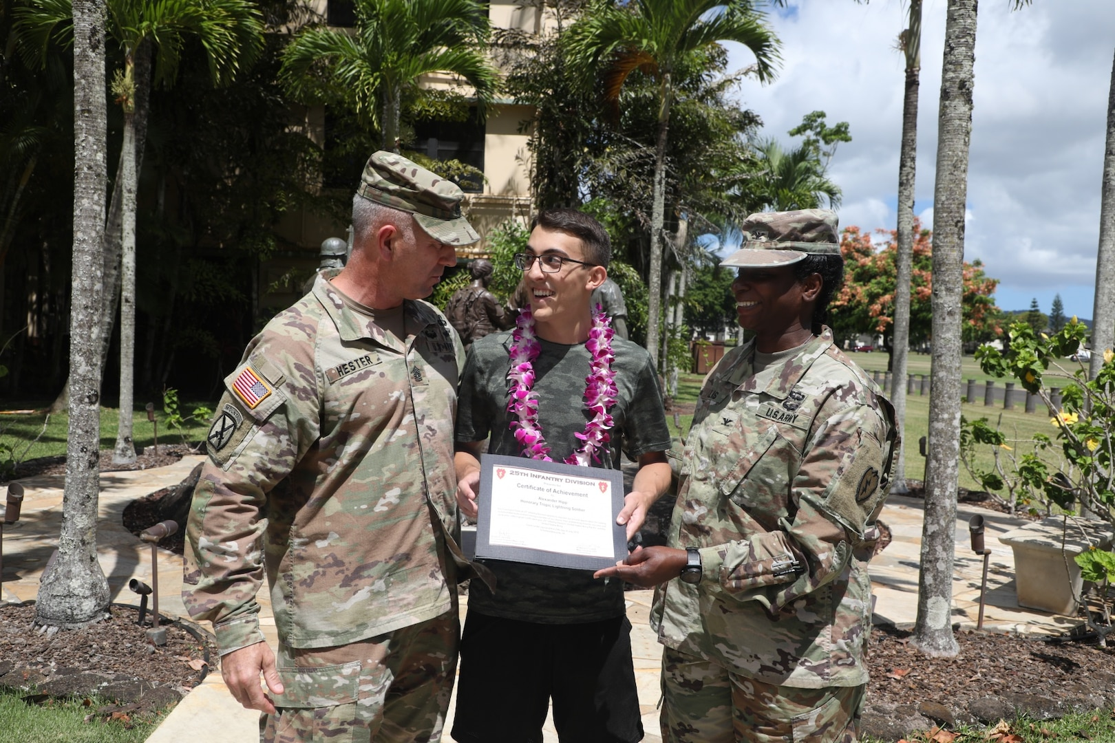 Soldiers Help Make Young Man's Wish Come True