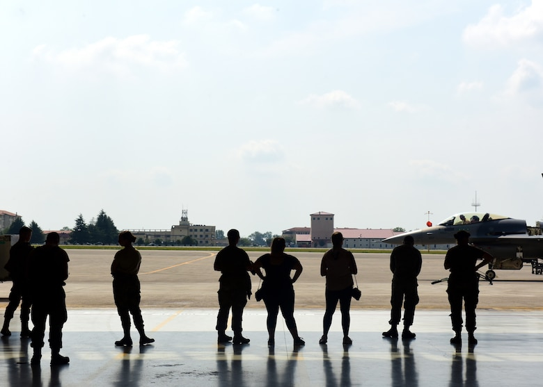 The 31st Maintenance Group hosts Friday Fusion July 26, 2019 at Aviano Air Base, Italy. The event allowed service members to learn about what the 31st MXG does during daily operations. (U.S. Air Force photo by Airman 1st Class Caleb House)