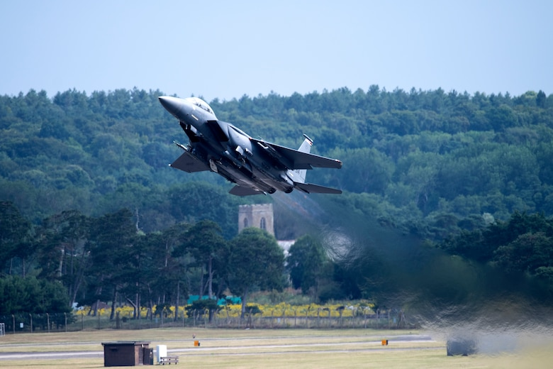 F-15E Strike Eagle takes off