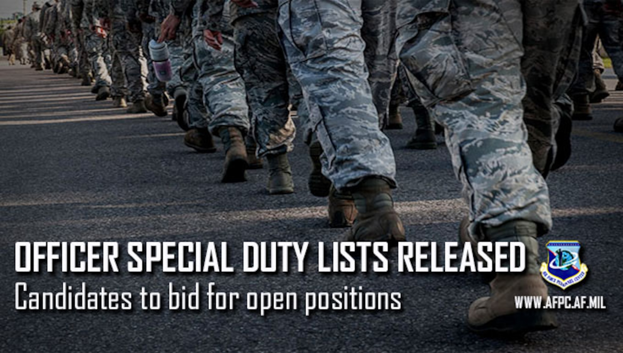 Air Force releases Officer Instructor and Recruiting Special Duty candidate lists