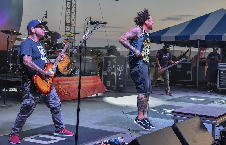 P.O.D. performs for Airmen and their families at the 2019