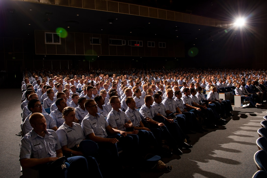 For the first time in university history, the Air Force Academy held a convocation ceremony Aug. 2, 2019, welcoming the incoming cadets from the Class of 2023. (U.S. Air Force photo/Joshua Armstrong)