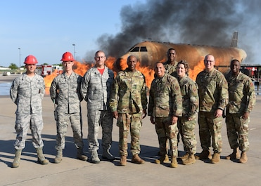 Chief Master Sergeant of the Air Force Kaleth O. Wright visits Goodfellow AFB.