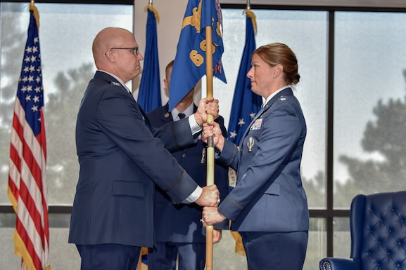 Lt. Col.  Lora Freeman assumed command of the 6th Space Operations Squadron during a ceremony July 12th, 2019.