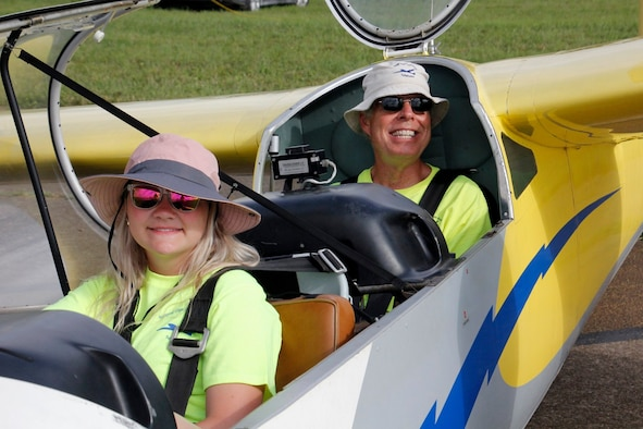 One of the 20 cadets who participated in the Southeast Region National Civil Air Patrol Glider Academy July 12-20, prepares for takeoff at the Tullahoma Municipal Airport. (Courtesy photo)