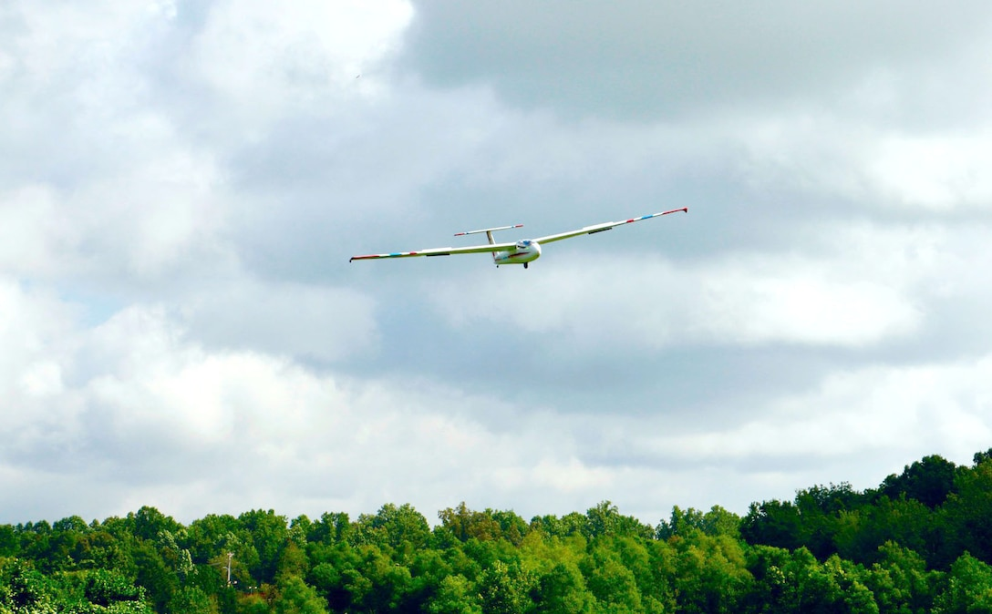 A cadet takes flight during the Southeast Region National Civil Air Patrol Glider Academy at Tullahoma Municipal Airport. The academy, hosted by the Beechcraft Heritage Museum in Tullahoma, was July 12-20. (Courtesy photo)