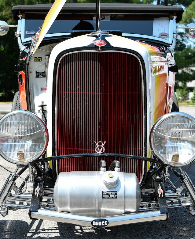 A 1932 Ford Roadster is on display at Arnold Air Force Base July 26 during a car show and barbecue hosted by the Arnold AFB Junior Force Council and Air Force Sergeant's Association Chapter 477. (U.S. Air Force photo by Jill Pickett)