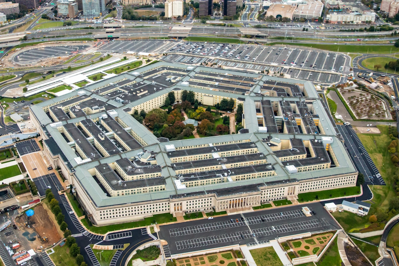 Oblique aerial photo of Pentagon
